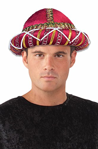 Forum Novelties Men's Sultan Sheik Hat, Red, One Size - Indian Maharaja Costumes