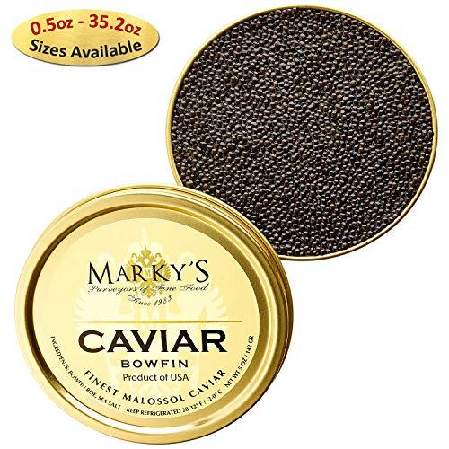 (Marky's Premium Bowfin American Black Caviar - 4 oz - Malossol Bowfin Black Roe - GUARANTEED OVERNIGHT)