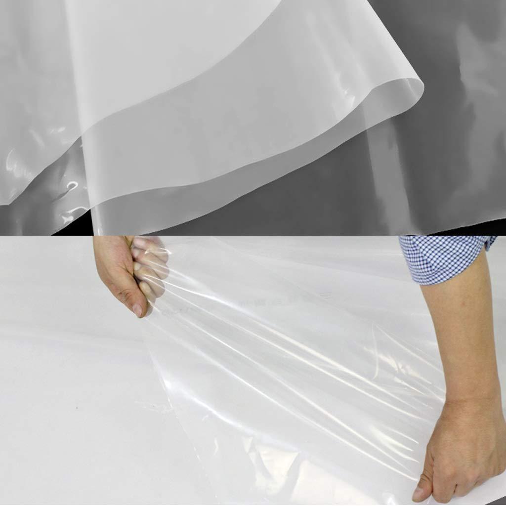 1m M-Y-L ToldoClear Tarpaulin 120G//M /² Impermeable Exterior Transparente Tarp toldo Cortavientos Aislamiento de pel/ícula de Invernadero,1