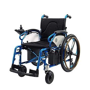 JL-Q Silla de Ruedas eléctrica Plegable portátil portátil para Ancianos discapacitados para Silla de