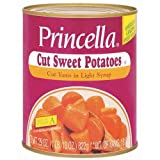 Princella Cut Yams in Light Syrup 29 Oz Cans (Pack of 4)