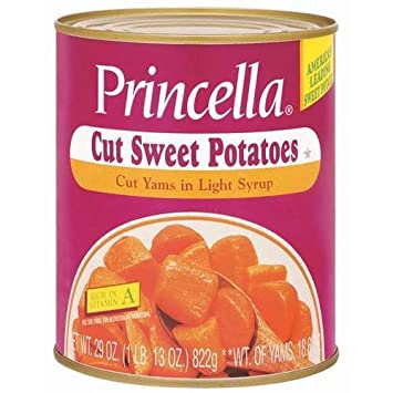 Amazoncom Princella Cut Yams In Light Syrup 29 Oz Cans Pack Of 4