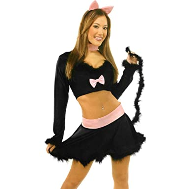 Girlu0027s Sexy Black Kitty Cat Costume (Size Medium ...  sc 1 st  Amazon.com & Amazon.com: Girlu0027s Sexy Black Kitty Cat Costume (Size: Medium 6-9 ...