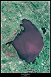 "Lake Okeechobee, Florida satellite map poster print phto: 24""x36"" glossy"
