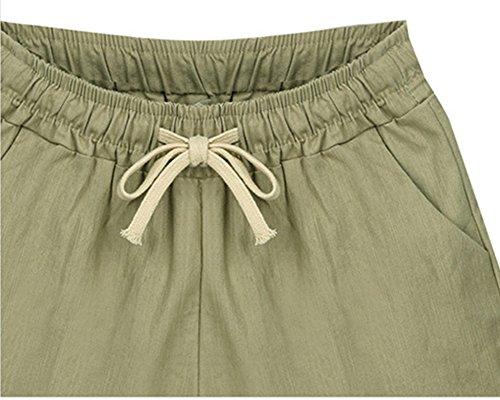 Ragazze Hot Shorts Donne Libero Spiaggia Beige Estate Pantaloncini Qitun Pants Tempo Coulisse qHU5w4x4X