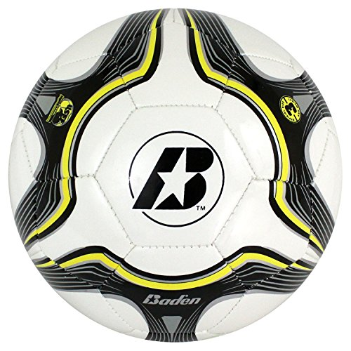 Baden Low Bounce Futsal Practice Ball (Size 3) Black/White/Yellow