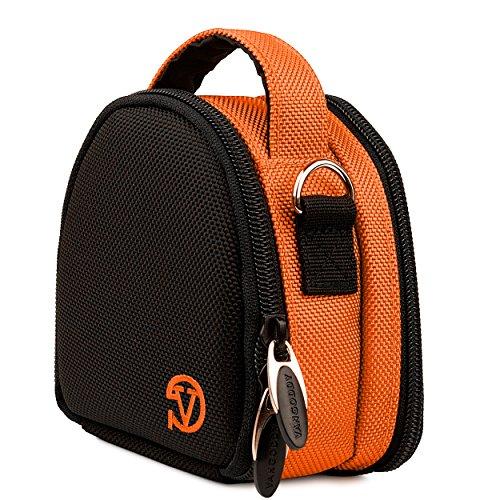 Ludwig Nylon Carrying Padded Case [Orange] For SJCAM SJ5000 Series (SJ5000, SJ5000 Wifi, SJ5000+, SJ5000X Elite, M20)