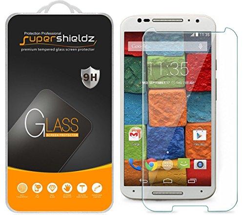 [3-Pack] Supershieldz for Motorola Moto X (2nd Generation / 2nd Gen) Tempered Glass Screen Protector, Anti-Scratch, Anti-Fingerprint, Lifetime Replacement Warranty