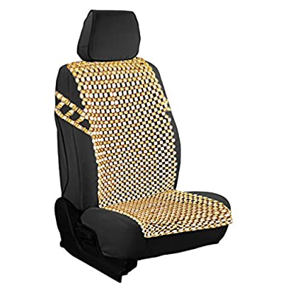 Zento Deals Natural Royal Wood Bead Seat Cover Massage Cool Premium Comfort Cushion- Reduces Fatigue The Car or Truck or Your Office Chair: Automotive