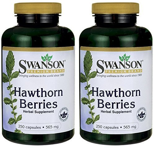 Swanson Premium Hawthorn Berries 565 mg -- 2 Bottles each of 250 Capsules by Swanson - Shopping Hawthorn Mall