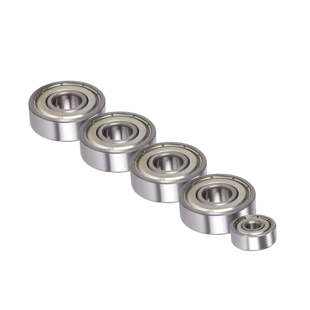 20T Timing Pulley LM8uu Linear Bearing 608zz and 624zz Bearing 3D Printer Prusa I3 Movement Kit for Reprap GT2 Belt Motor Shaft Coupler