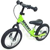 【組立済】【キックスタンド付き】 ブレーキ付ゴムタイヤ装備 ペダルなし自転車 キッズバイク SPARKY バランスバイク
