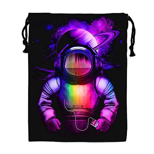 Universe Music Drawstring Bags Waterproof Party Favors Pouch Tote Bag For Women (Fun Halloween Activities For Music Class)
