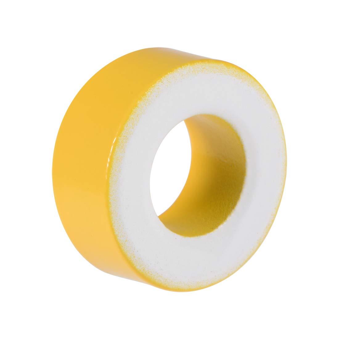 sourcing map 200pcs 7.4 x 13 x 5mm Ferrite Chokes Ring Iron Powder Toroid Cores Yellow White