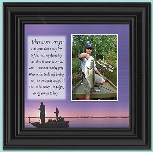 Fishermans Prayer, Personalized Fishermens Gifts for the One You Love, Fishing Décor Picture Frame 10X10 9701B