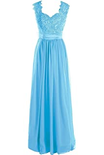 Fanciest Womens Lace Mint Bridesmaid Dresses Long Wedding Party Gowns