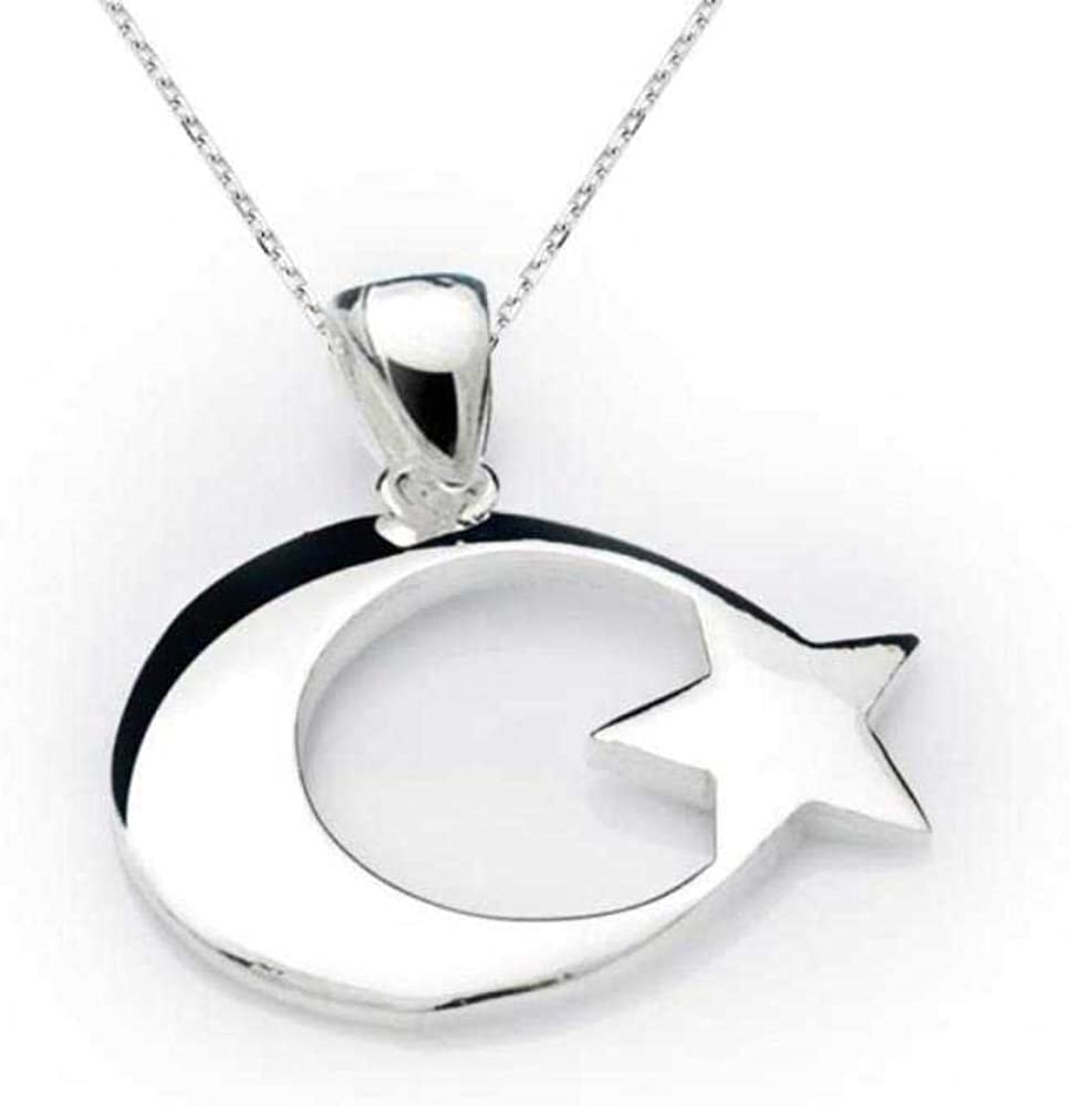 Amazon Com Kokana Sterling Silver Crescent Moon And Star Jewelry