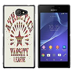 Dragon Case - FOR Sony Xperia M2 - ?my heart you will hurt you - Caja protectora de pl??stico duro de la cubierta Dise?¡Ào Slim Fit