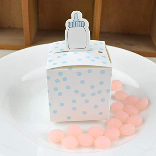 NJSdd 50Pcs Biberón Caja de Regalo de Papel Cajas de Dulces ...