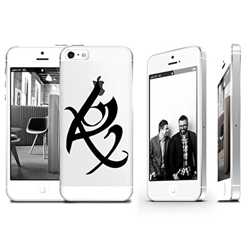 Shadowhunter Runes Fearless Clear Transparent Plastic Phone Case Phone Cover for Iphone 5 5s_ SUPERTRAMPshop (iphone 5/5S)