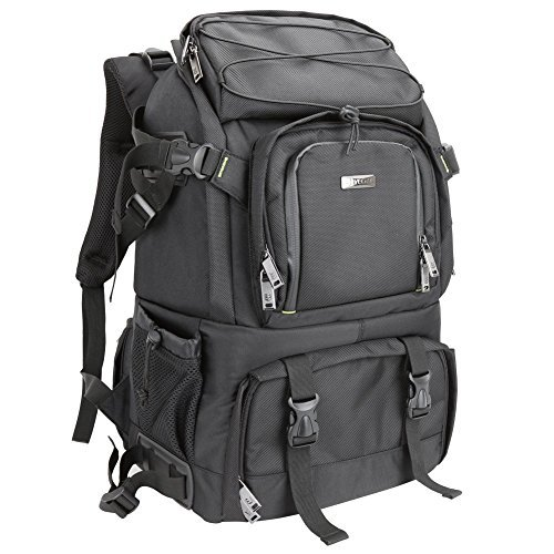 Evecase Extra Large Professional DSLR Camera & Laptop Travel