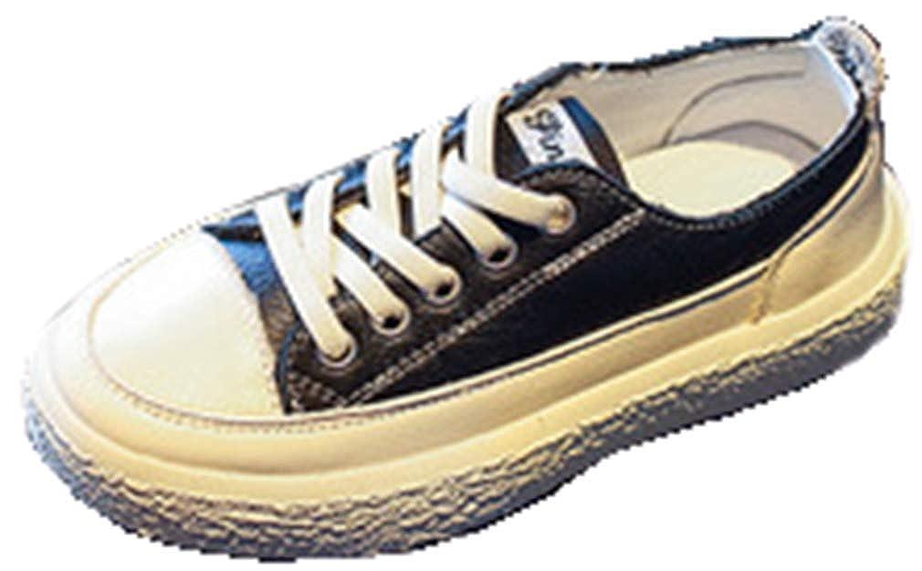 VECJUNIA Boys Girls Fashion Sneakers PU Nonslip Slip On Flats School Uniforms