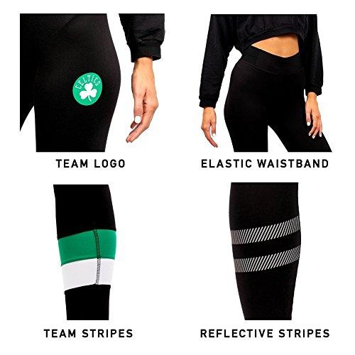 UNK NBA Women's Leggings Perimeter Fitness Sport Yoga Pants, Team Logo Black