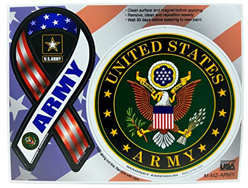 Magnet America's U.S. Army Emblem - Mini 2 in 1 Ribbon & Magnet