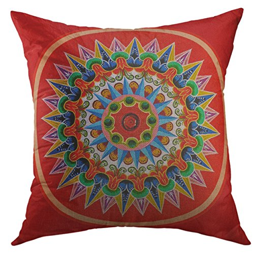 (Mugod Decorative Throw Pillow Cover for Couch Sofa,Rica Costa Rican Tradition Folklore Travel Painting Oxcart Home Decor Pillow Case 18x18 Inch)