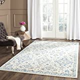 Safavieh Evoke Collection EVK224C Contemporary Ivory and Light Blue Area Rug (3′ x 5′) Review