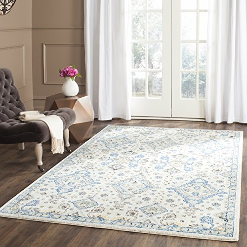 light blue and white rug - 3