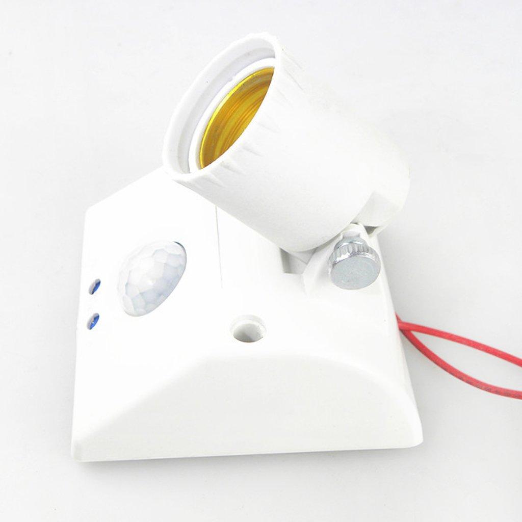 FLAMEER E27 Interruptor Del Sensor De Movimiento Del Cuerpo Del Infrarrojo PIR Del Portal/ámparas De La L/ámpara Del Z/ócalo De Luz
