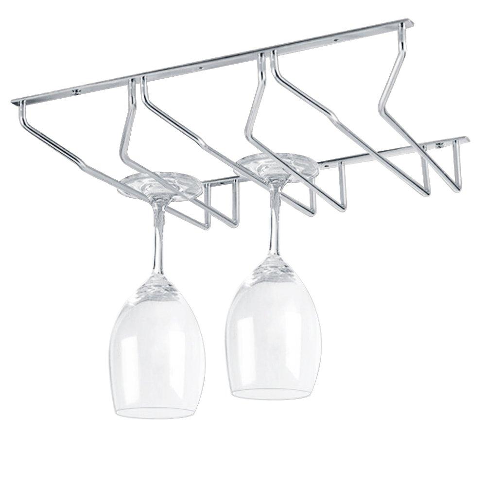 KES SUS 304 Stainless Steel Wine Glass Holder Stemware Rack Under Cabinet Storage Organizer, KSR200S27