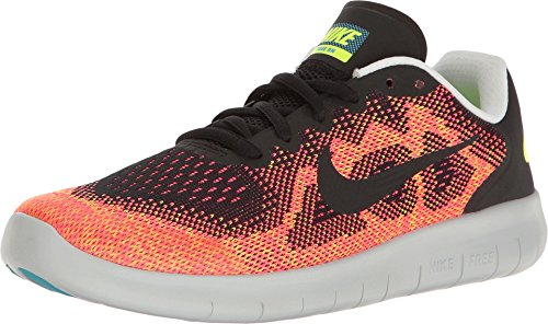 Nike Free RN 2017 GS Running Trainers 904255 Sneakers Shoes (UK 3.5 us 4Y EU 36, Black hot Punch 003)