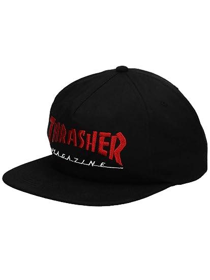 d128e765f89 Thrasher Two Tone Magazine Logo black Snap Back Cap  Amazon.co.uk  Clothing