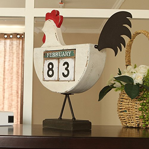The cocks creative calendar ornaments home bedroom furnished with American retro displayed so the old decorations by TDLC (Image #3)