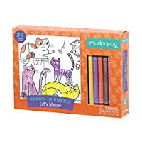 Mudpuppy Cats Meow Color-in Puzzle (24 Piece)