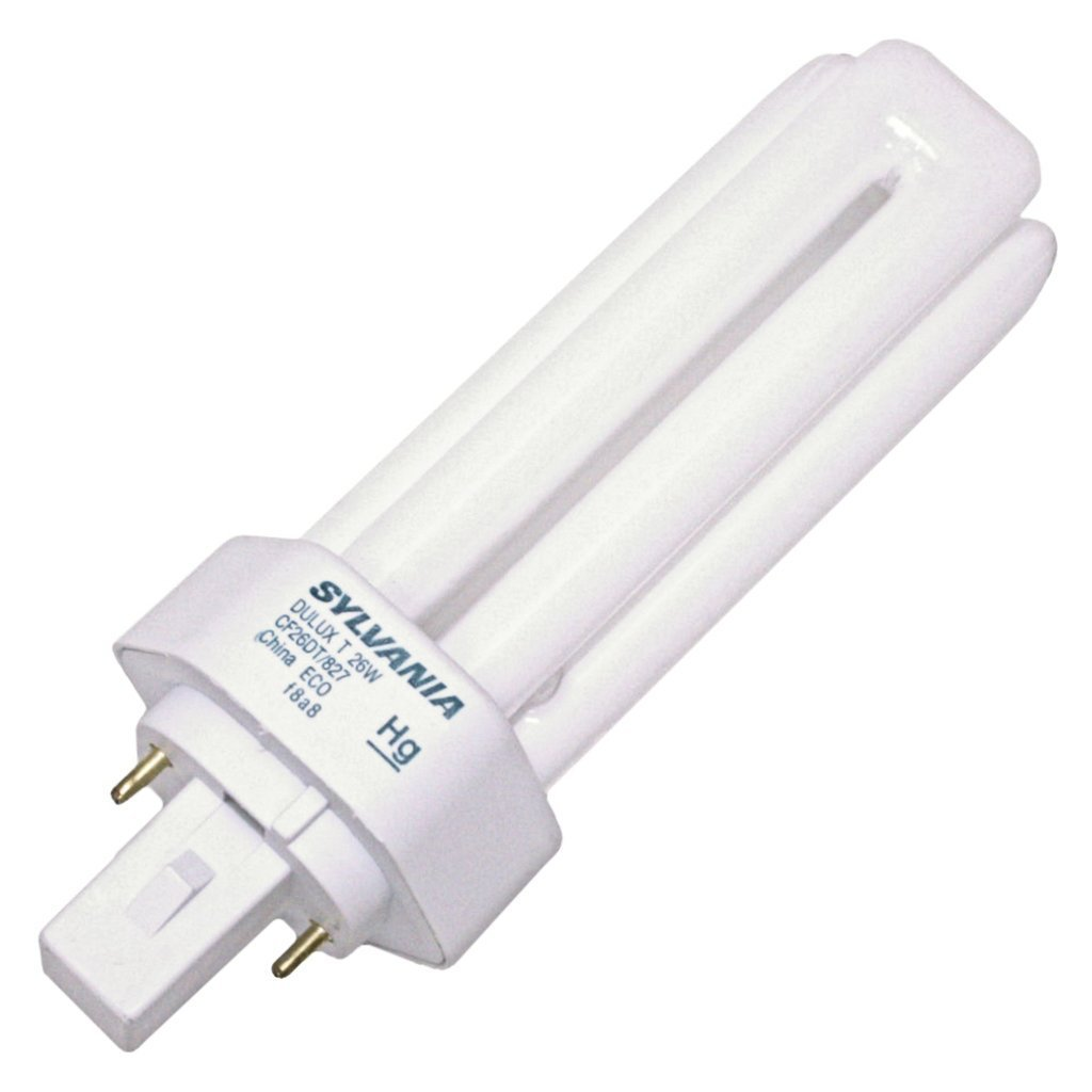 (10 Pack) Sylvania 20454 CF26DT/827/ECO 26-Watt 2700K 2-Pin Single Tube Compact Fluorescent Lamp