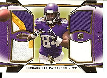 the best attitude f38a6 0f310 Amazon.com: 2013 Prime Gold Quad Relics #QR-CP Cordarrelle ...