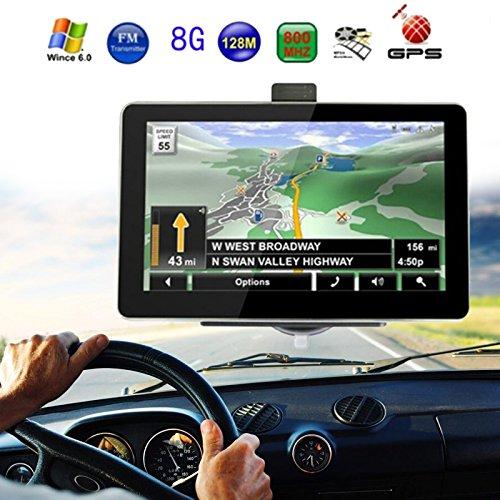 Sedeta 7 Zoll LKW Auto GPS Navigator Navigationssystem mit kostenlosen Karten Berü hrungsempfindlicher Bildschirm/E-Buch/Video/Audio/Spieleplayer 8G ROM