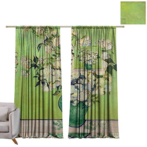 (Curtains and Drapes Iris Flower and Rose W84 x L108 Window Drape for Bedroom)