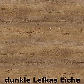 Lukm/öbel 2er Set Couchtisch 70.5x70.5x42cm aus schwarzem Metall und laminierte Eiche Platte Vintage Sofatisch Woltan Eiche