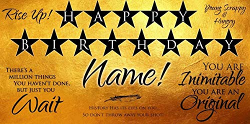 Hamilton Inspired Birthday Banner Personalized/Customized Birthday Banner ()