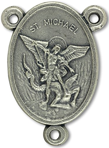 LOT of 5 - St Michael / Pray for Us Centerpiece for Rosary 1