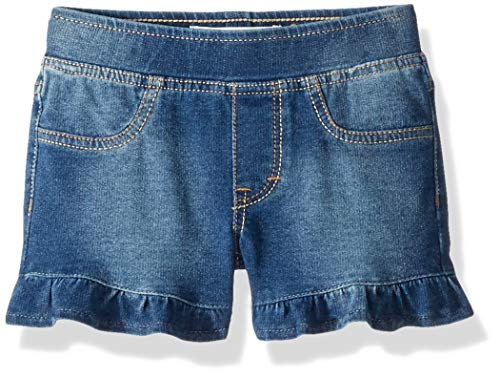 Levi's Girls' Little Knit Pull On Shorts, Ice Blue Ruffle 6X