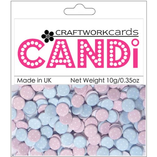 Craftwork Cards - Craftwork Cards Candi Dot Printed Embellishments .35oz-Sugar Frosting