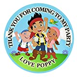 Personalised Pirate birthday party 50mm 2' Party Stickers thank you labels,thank you for coming to...