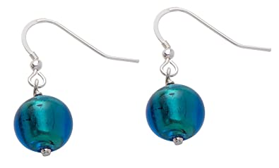 Valentina Murano Glass Kingfisher Drop Earrings