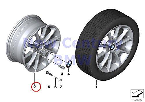 Light Alloy Rim - 4 X BMW Genuine Light Alloy Rim Reflex-Silver Light Alloy Disc Wheel 8Jx18 Et:34 320i 320iX 328d 328dX 328i 328iX 335i 335iX Hybrid 3 328i 328iX 330e 340i 340iX 328dX 328i 328iX 328dX 328iX 428i 428iX
