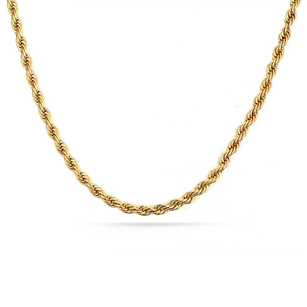 Hmlai Clearance Women Necklace Lady Fashion Hip Hop Necklace Stainless Steel Link Necklace Choker Jewelry(GoldB) by Hmlai Clearance (Image #3)